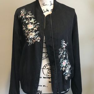 Bomber Jacket Embroidered Size S